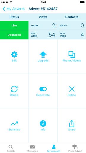 SpareRoom iPhone App screenshot of property management