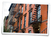 Apartment block in Manhattan with rooms for rent
